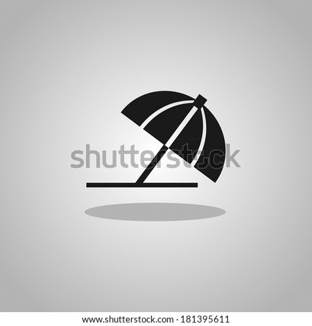 umbrella - Vector illustration - stock vector