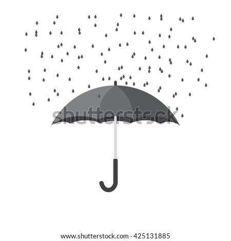 umbrella with rain. Vector background - stock vector