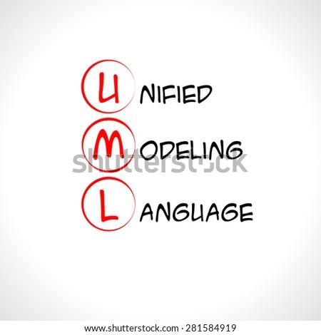 UML, Unified Modeling Language - stock vector