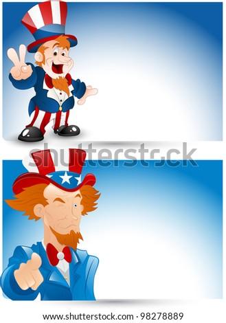 Uncle Sam Portrait Vector - stock vector