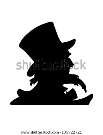 Uncle Sam Silhouette - Retro Clip Art Illustration