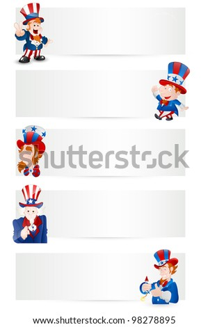 Uncle Sam Vector Banners - stock vector