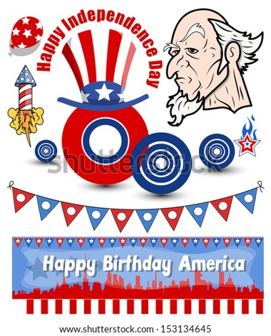 Uncle Sam Vector set - stock vector