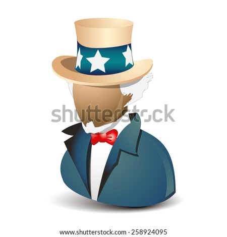 Uncle Sam Want You vector icon - stock vector