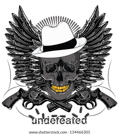 Undefeated - stock vector