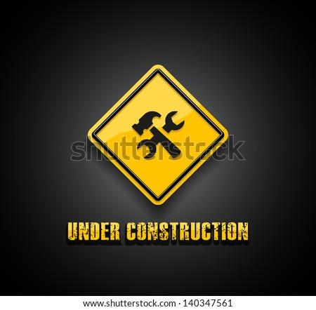 Under construction - stock vector
