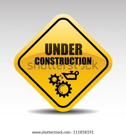 Under construction abstract vector illustration - stock vector