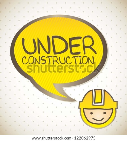under construction background, cartoon. vector illustration - stock vector