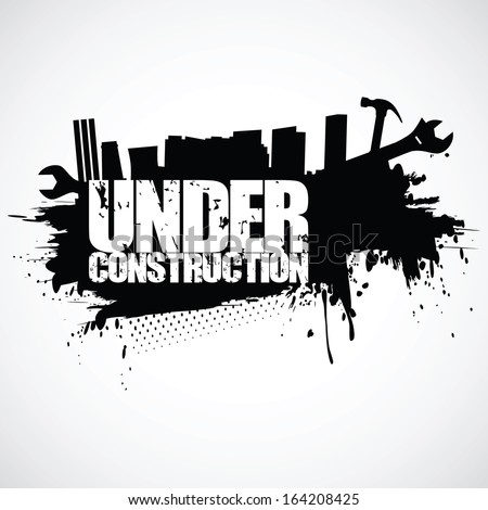 Under construction background (vector illustration)