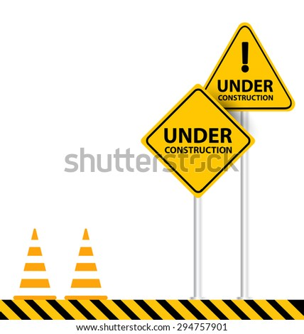 under construction background vector illustration - stock vector