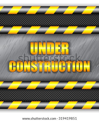 Under construction background with copy space. Vector eps10. - stock vector
