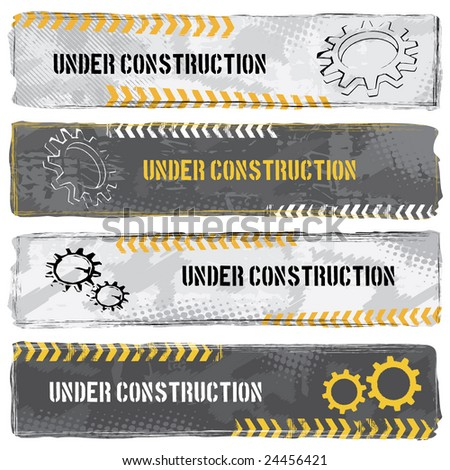 Under Construction Banners - stock vector