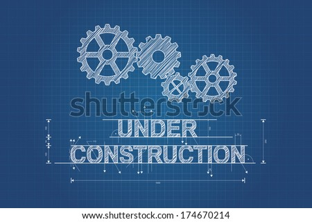 Under construction blueprint technical drawing gear stock vector hd under construction blueprint technical drawing gear stock vector hd royalty free 174670214 shutterstock malvernweather Gallery