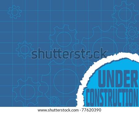 Under construction blueprint website design stock vector 2018 under construction blueprint website design malvernweather Images