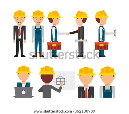under construction design  - stock vector