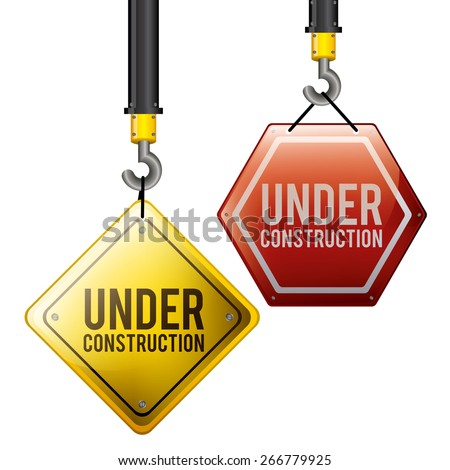 Under Construction design over white background, vector illustration - stock vector