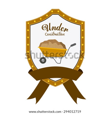 Under construction digital design, vector illustration eps 10