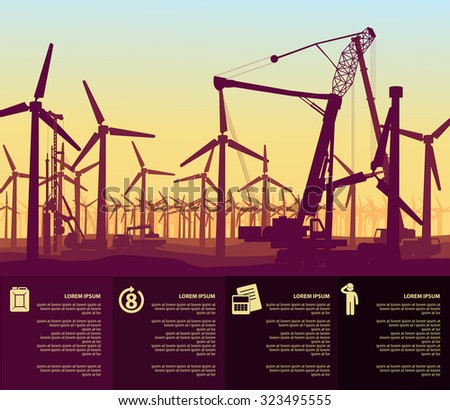 under construction energy - stock vector