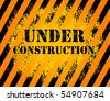 Under construction grunge background, vector illustration - stock vector