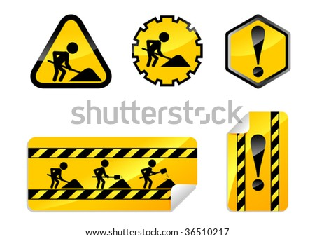under construction icon - stock vector