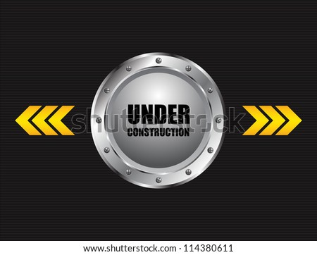 under construction industrial background - stock vector