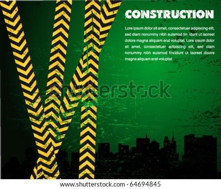 under construction - industrial vector poster - stock vector