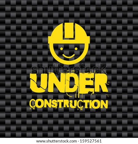 under construction over black background  vector illustration