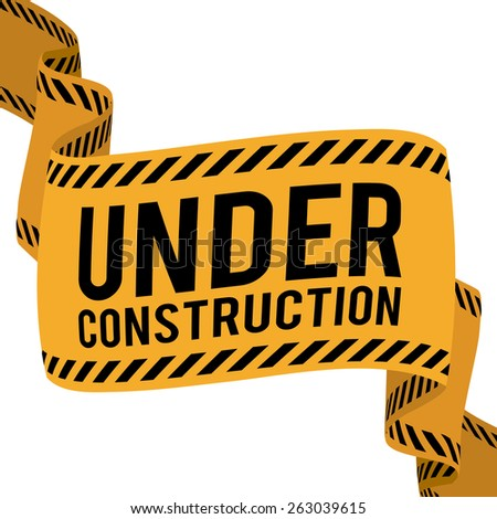 Under construction over white background  design, vector illustration.