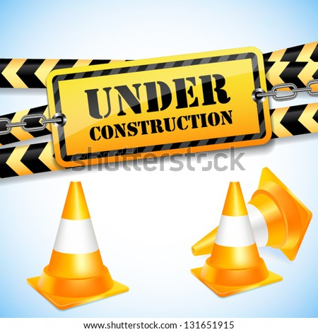 Under construction page. Vector background.