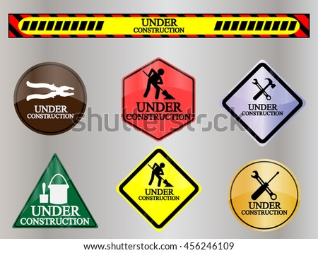 under construction sign symbol icon