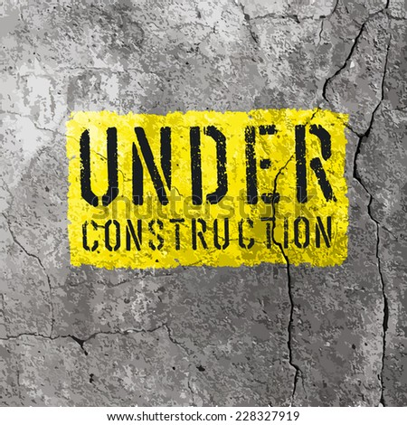 Under Construction Sign. Vector - stock vector