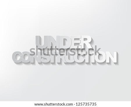 Under construction simple sign on a light background. - stock vector