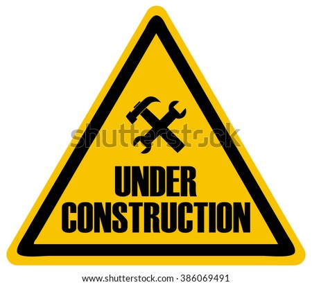 Under Construction Triangle Sign, Vector Illustration.