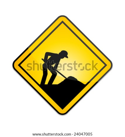 Under construction vector sign - stock vector