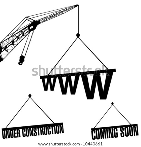 under construction web - stock vector