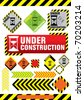 under construction web icon - stock vector