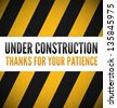 Under construction with place for your text - stock vector
