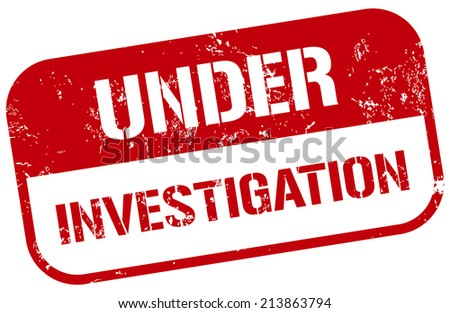 Under Investigation Stamp Stock Vector Royalty Free