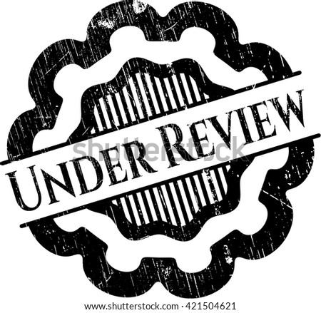 Under Review rubber seal - stock vector