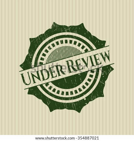 Under Review rubber texture - stock vector