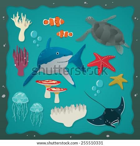 Under The Sea 02 - stock vector