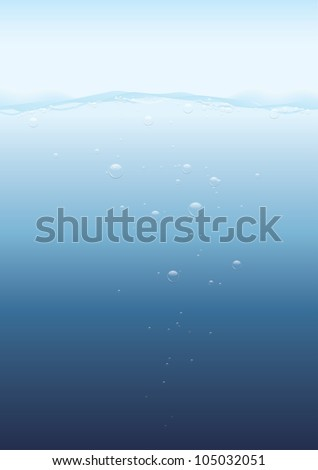 Under water background - stock vector