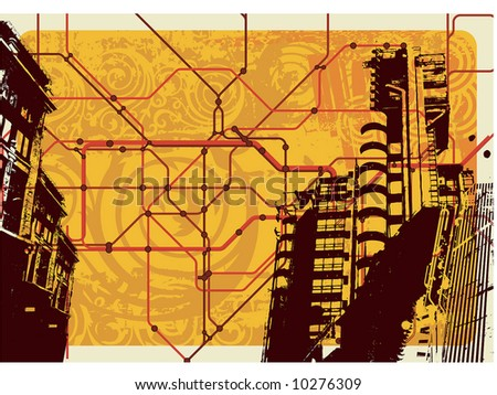 underground map illustration - stock vector