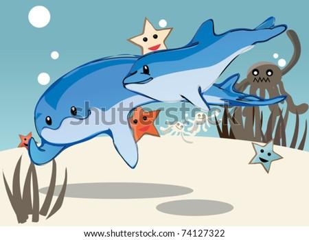 underwater - stock vector
