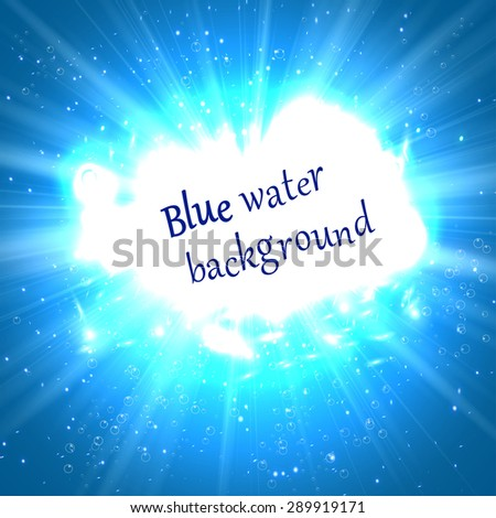underwater abstract blue shine background vector illustration - stock vector