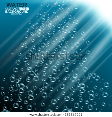 Underwater background vector illustration - stock vector