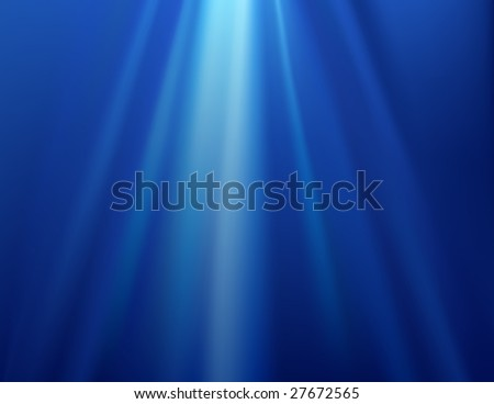 Underwater background, vector illustration, EPS file included - stock vector