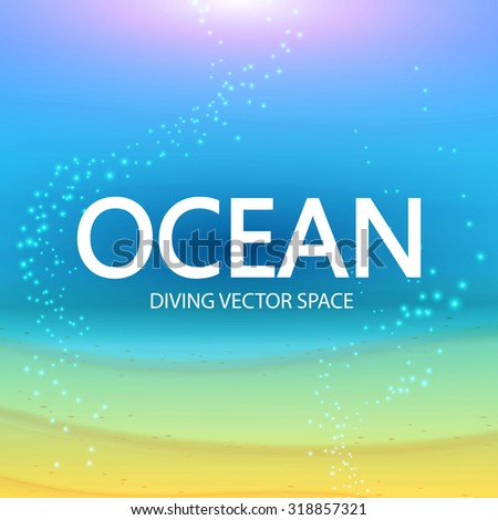 Underwater background with place for text. Vector illustration. - stock vector