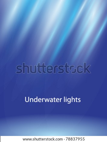 underwater lights vector eps10 - stock vector