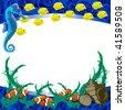 underwater tropical background - stock vector